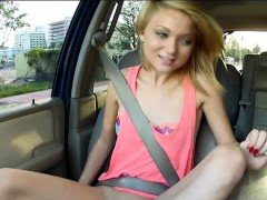 Cute amateur blonde teenie...