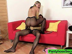 Jenna nylons sex and blowjob