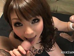 Horny jap akes two cocks at...