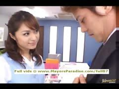 Mihiro innocent Chinese girl enjoys getting an office